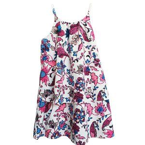 Floral Loose Fitting Layered Strappy Dress 4T
